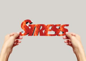 Stress Sign and Hands