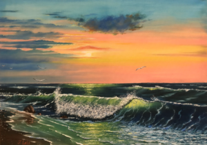 Sun and Sea - amazing painting