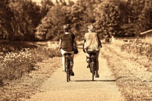 Two Persons Exercise Together